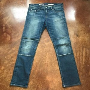 Pilcro and the Letterpress Parallel Mid-Rise Jeans